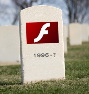 Adobe Flash Tombstone