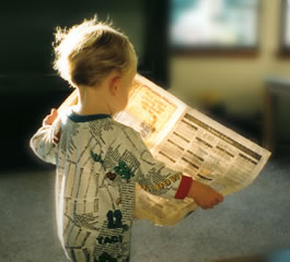 the object is what the actor performs the action upon in an activity statement. The child reads the newspaper.