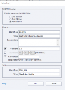 Creating a SCORM Package with Adobe Captivate - JCA Solutions