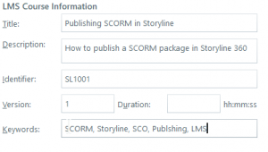 Setting Articulate Storyline LMS Options