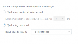 Articulate Storyline tracking options