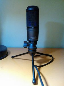 AT-2020USB microphone to record audio for eLearning