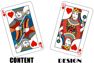 content is king and design is queen to prevent elearning disaster
