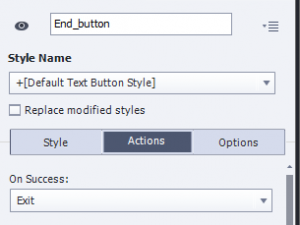 exit button settings